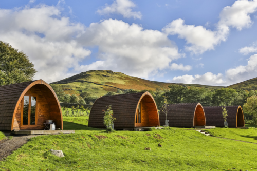 Camping pods at The Quiet Site
