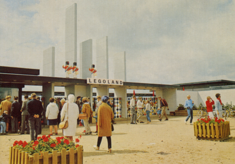 The entrance to Legoland in Billund, Denmark, when it opened in 1968/1969.