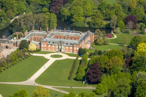 an aerial view of Dunham Massey