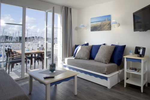 Inside the apartment at Pierre & Vacances resort at Port du Crouesty