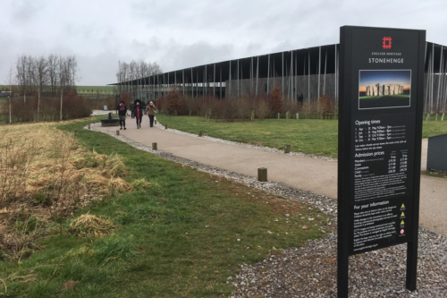 The entrance to Stonehenge Visitor Centre