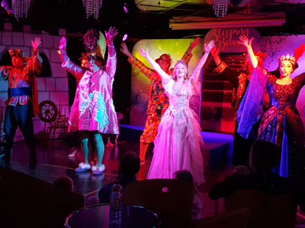a pantomime on board a Brittany Ferries ship