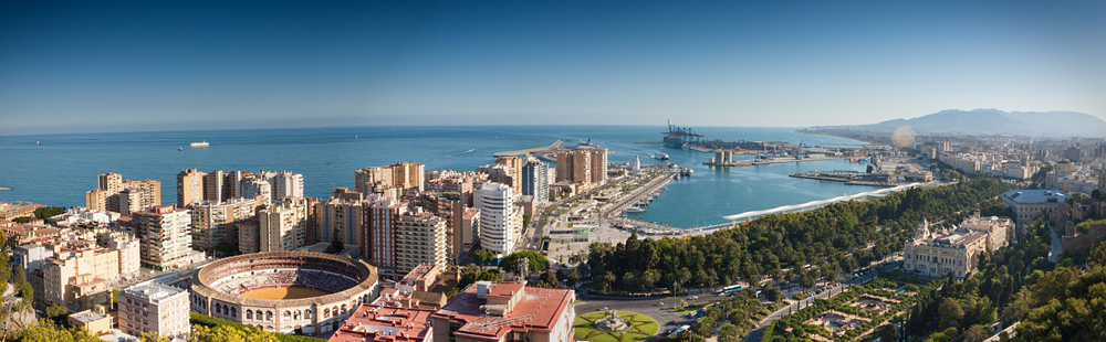 a panoramic view of Malaga