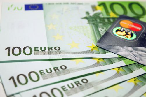 Euros and a bank card