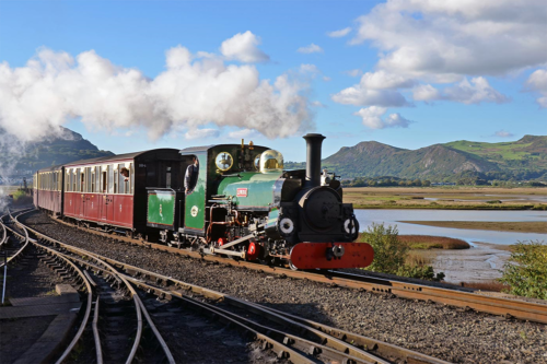The Ffestiniog Railway travels through the beautiful landscape