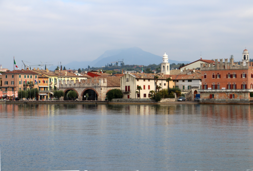 One of the towns around Lake Garda from the ferry