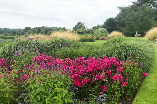 Gardens at Abbeywood Estate in Delamere, Cheshire