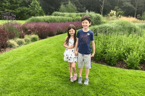 Children at Abbeywood Estate in Delamere, Cheshire