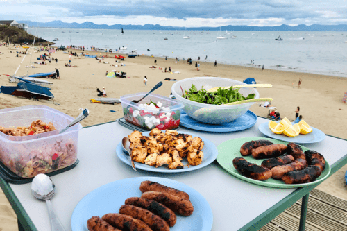 Barbecue on Abersoch Main Beach