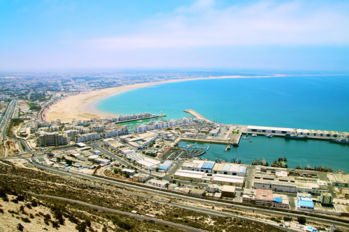 Aerial view of Agadir, Morocco