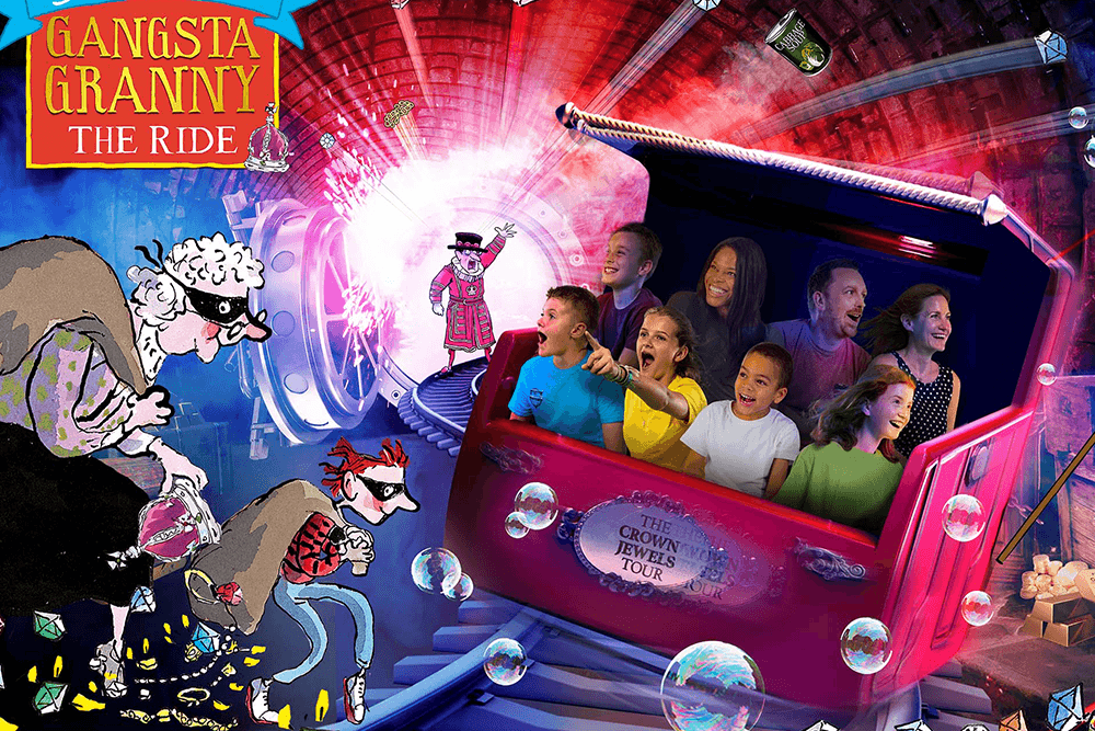 Gangsta Granny: The Ride comes to Alton Towers based on the popular book as part of the new World of David Walliams