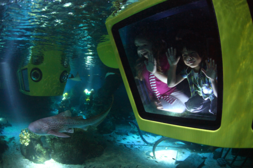 Children on Atlantis Submarine Voyage at Legoland Windsor