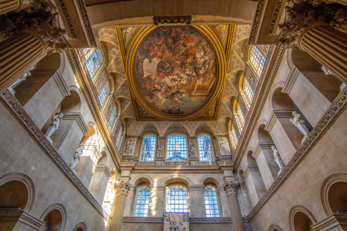 A ceiling inside Blenheim Palace
