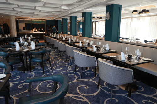 The restaurant at the Buxton Crescent Hotel