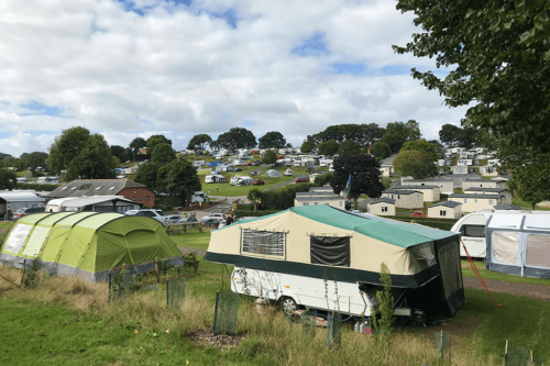Camping, tents, caravans and motorhomes at Cofton Holidays in Devon