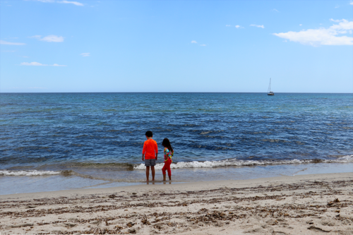 Children on Canella Beach