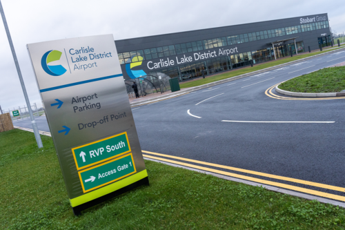 Carlisle Lake District Airport exterior
