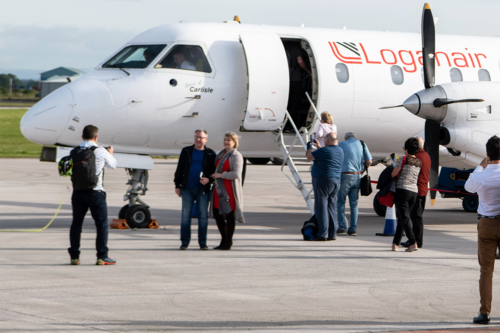An English airport reopens to passenger flights after 26 years
