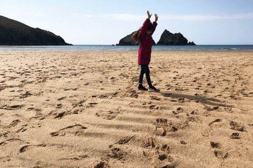 Holywell Bay beach in Cornwall