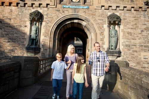 A family at Edinburgh Castle