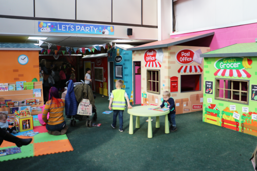 Indoor role play street at Cockfields Farm
