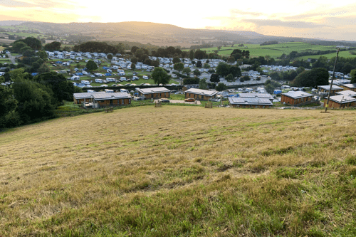 Coftons Holiday Park - view from the hill