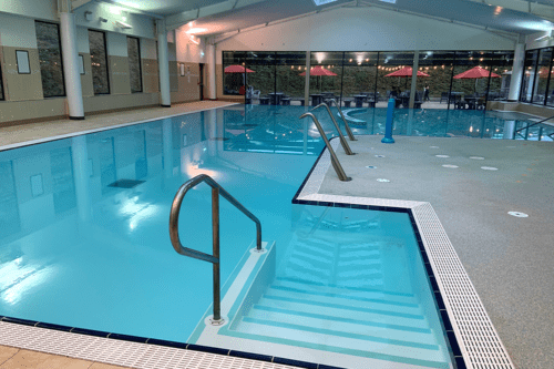 The indoor pool at Cofton Holiday Park