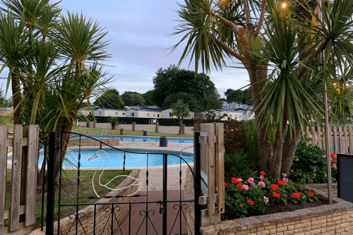 Outdoor pool at Cofton Holiday Park