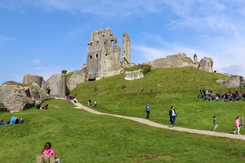 Corfe Castle, the inspiration for Kirrin Castle