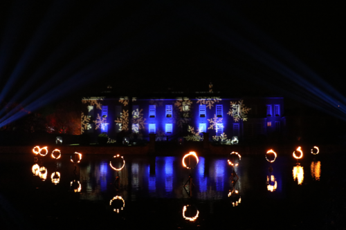 Dunham Massey Christmas Lights house