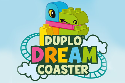 The new Duplo roller coaster ride at Legoland Windsor