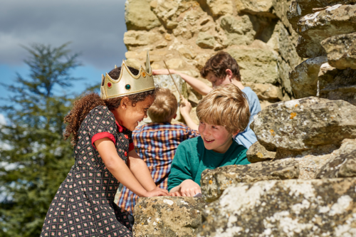 Children hunt on an Easter hunt with English Heritage