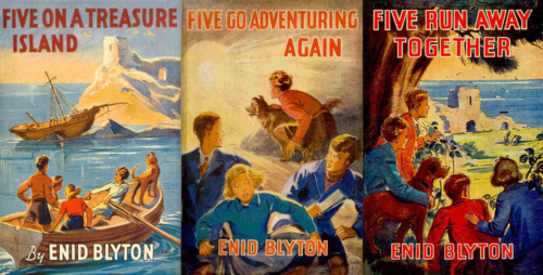 The first three Famous Five Books