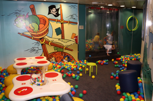 A play area on the King Seaways ship