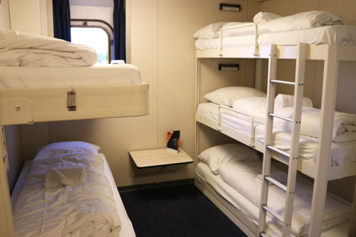 Our cabin on the Princess Seaways