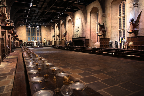 The Great Hall at Harry Potter Studio Tour in London