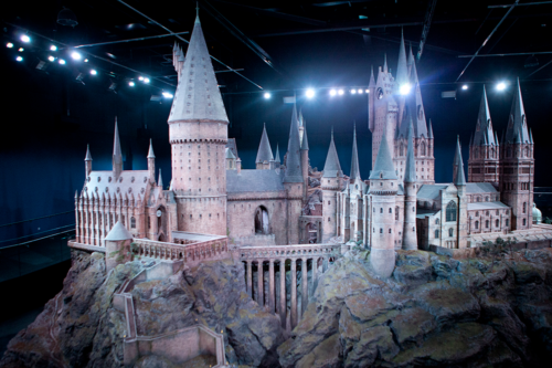 The Hogwarts model at Harry Potter Studio Tour in London