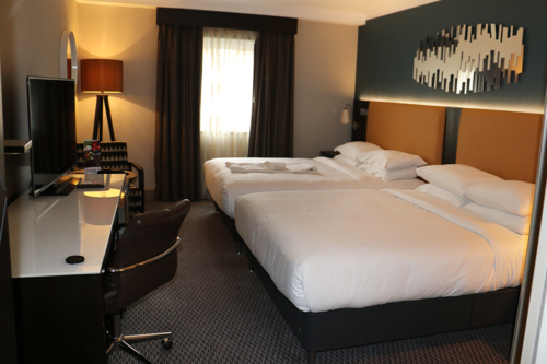 Our room at the Hilton Bracknell