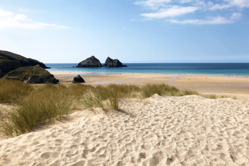 Holywell Bay beach is where some of Poldark was filmed