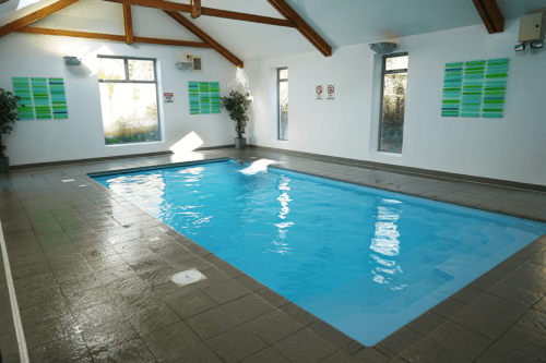 Indoor pool at The Valley, Truro, Cornwall