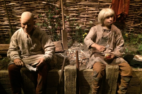 Figures seen as part of the ride at Jorvik Viking Centre