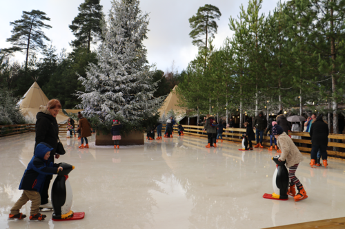 The ice rink at Lapland UK