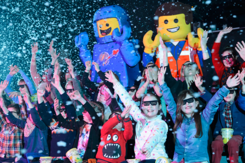 Children in the audience at the LEGO 4D Movie Theatre