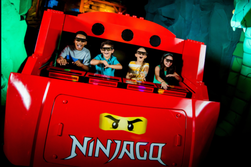 Children on Lego Ninjago The Ride at Legoland Windsor