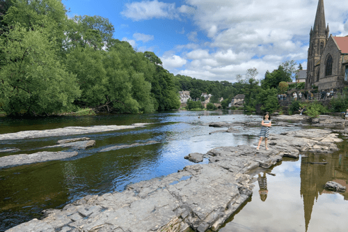 Stepping stones in Llangollen