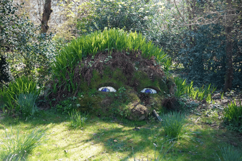 A giant's head at The Lost Gardens od Heligan