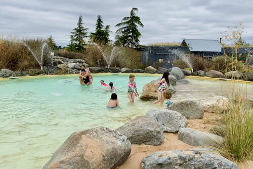 The children's pool at Love2Stay holiday park in Shropshire