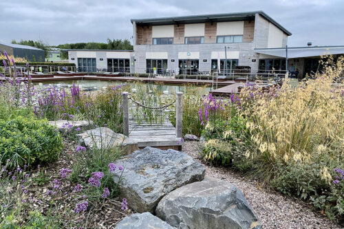 The restaurant and reception at Love2Stay holiday park in Shropshire