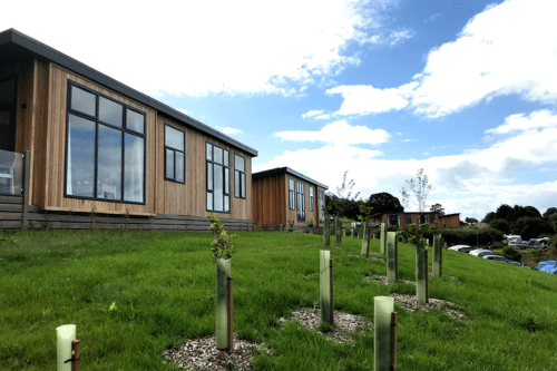 Luxury lodges at Coftons