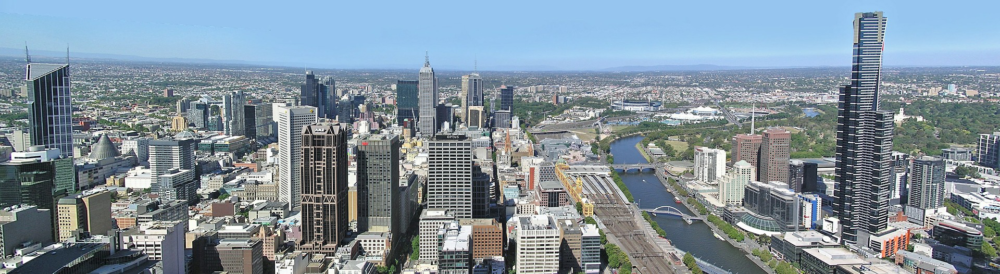 A panoramic view of Melbourne in Australia